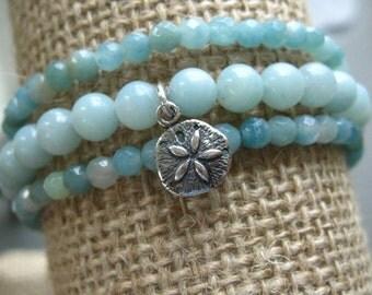 Boho Chic Amazonite Wrap Bracelet