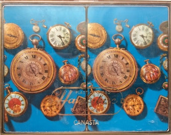 Antique Timepieces Canasta Decks by Hampshire