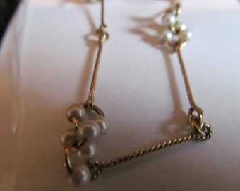 tiny pearl cluster necklace
