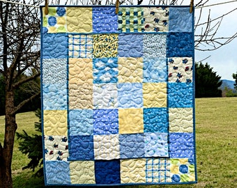Little Boy Blue Baby Quilt