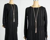 ON SALE Antique Black Dress Cuff Detail