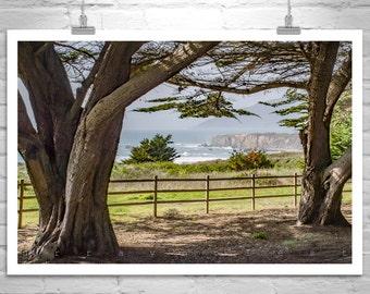 Big Sur, Fine Art Photography, California Coast, Ocean Waves, Pacific Coast Highway, Seascape Art, Black and White, Northern California