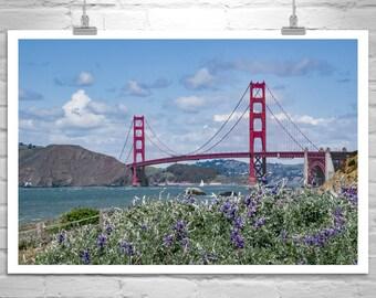 Golden Gate Bridge Photo, San Francisco Print, Baker Beach, Sailing Art, California Art, Nautical Art, Photo Art, Ocean Beach