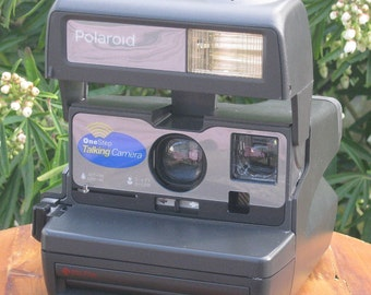 Vintage Polaroid Talking Camera for Impossible Project 600 Film Tested and Working