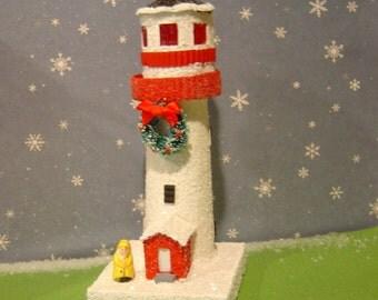Christmas Village putz style Lighthouse