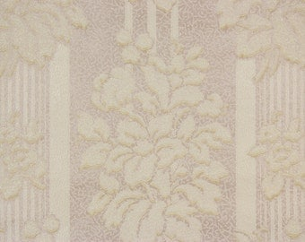 1920s Vintage Wallpaper Raised White Flower Bouquets by the Yard--Made in Canada