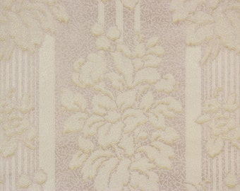 1920's Vintage Wallpaper Raised White Flower Bouquets--Made in Canada