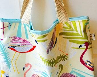 Flamingo tote, flamingo beach bag, flamingo, beach bag, beach tote, monogrammed tote, monogrammed bag, tote, bag, diaper bag, diaper tote