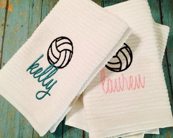 Sports Towel - Embroidered Sports Towel - Sweat Towel - Hand Towel - School Sports Towel - Volleyball - Soccer-Basketball DISCONTINUED