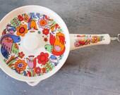 SALE PENDING vintage Royal Crown Paradise porcelain ovenware sauce pan 3728