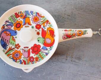 vintage sauce pan - Royal Crown Paradise porcelain ovenware 3728
