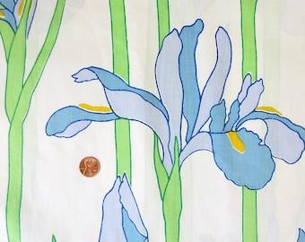 Vintage Purple Iris Twin Flat Sheet - Spring Floral