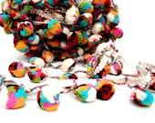 Cotton Mutli Colored Pom Pom Trim, Pompom Lace, Indian Pom Pom, Scarf Pompom Trim, 1 Yard, Boho,Home Decor