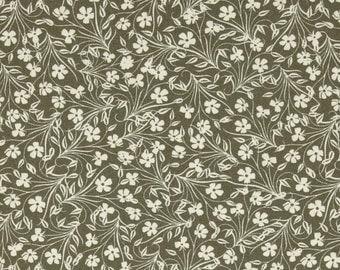 Yard, Half Yard, Fat Quarter - Jenean Morrison Lovelorn Feathered Flowers in Gray PWJM102