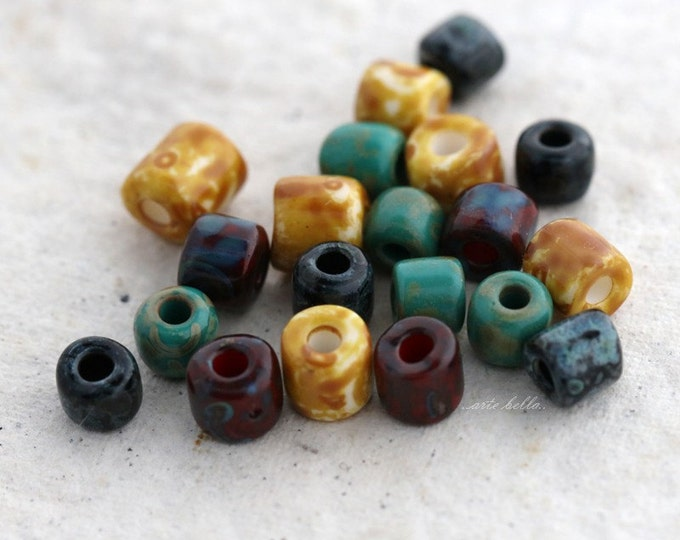 SEED BEAD MIX No. 5375 .. 20 Picasso Czech Glass Seed Bead Mix (5375-20)