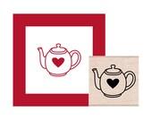Tea Pot Rubber Stamp