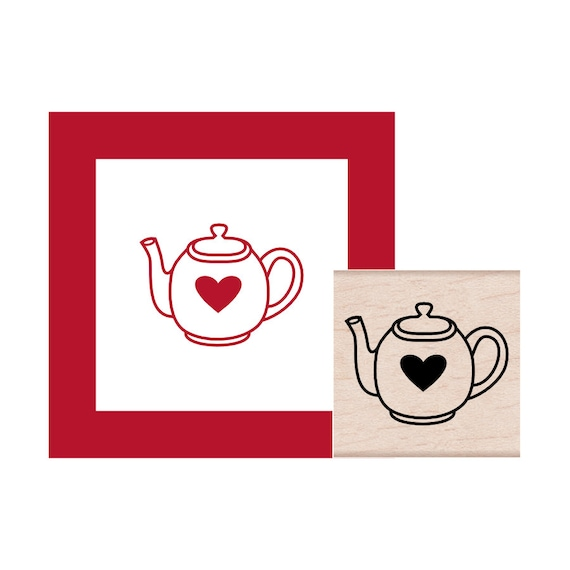 Tea Pot Rubber Stamp