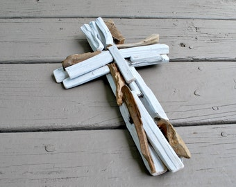 Driftwood Cross - Driftwood Decor - Wood Cross - Drift Wood - Wall Cross - Decorative Crosses - Beach Decor - Religious Crosses