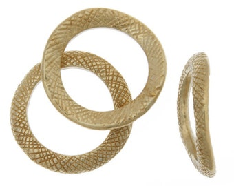 2 Pieces Gold Tone Pewter Base Curved Rings- 18mm (260000)