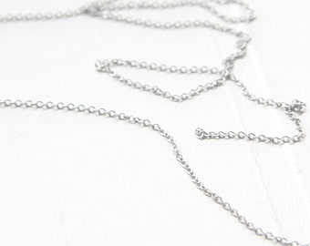 3 Feet Premium Matte Silver Plated Brass Base Chains - Flat Oval 1.34x1mm (220SF)