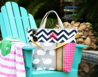 XL tote Large Diaper Tote Bag|Tennis Tote Bag|Handbag|Funky Keeta Collection Tote|Beach Bag|Whales Tote Bag|Anchor Nautical Tote Bag