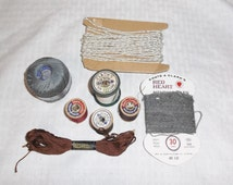 Vintage Coats and Clarks Sewing Lot Thread Yarn Braid 20s 30s 40s