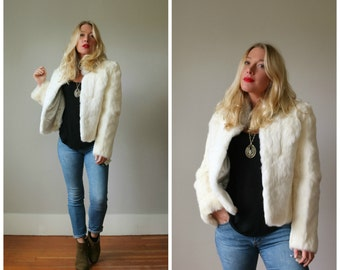 Deadstock, NWT 1980s Rabbit Fur Coat >>> Size Extra Small to Small