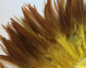 VOGUE  SADDLE / Mustard Yellow with darker tips / 483