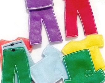Felt Learn your colors matching Game set includes 7 sets of clothing #3919