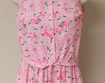 The Lilly Lilly Pulitzer sun dress long length tiered skirt pink floral polka dot side zipper