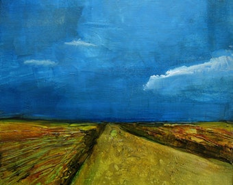 INTO THE STORM Abstract Cloud Landscape -   Abstract Giclee print from my original oil painting -  Art