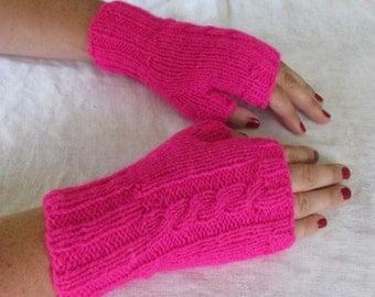 Fingerless Mittens Small Wool  Maine Made