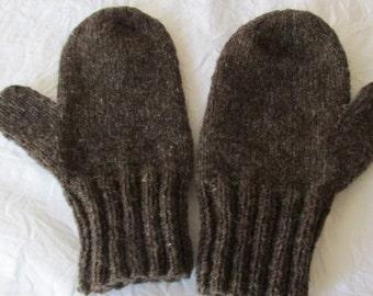 Adults Men's Medium Wool Mittens