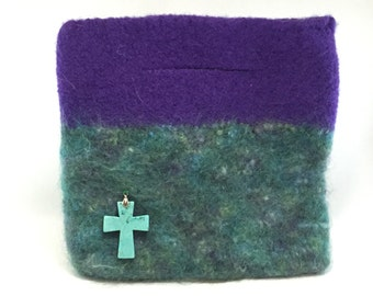 Hand Knit Felted Purse