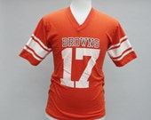 Vintage 1970s Cleveland Browns football jersey style T-shirt