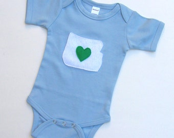 I Heart Oregon Baby Onesie