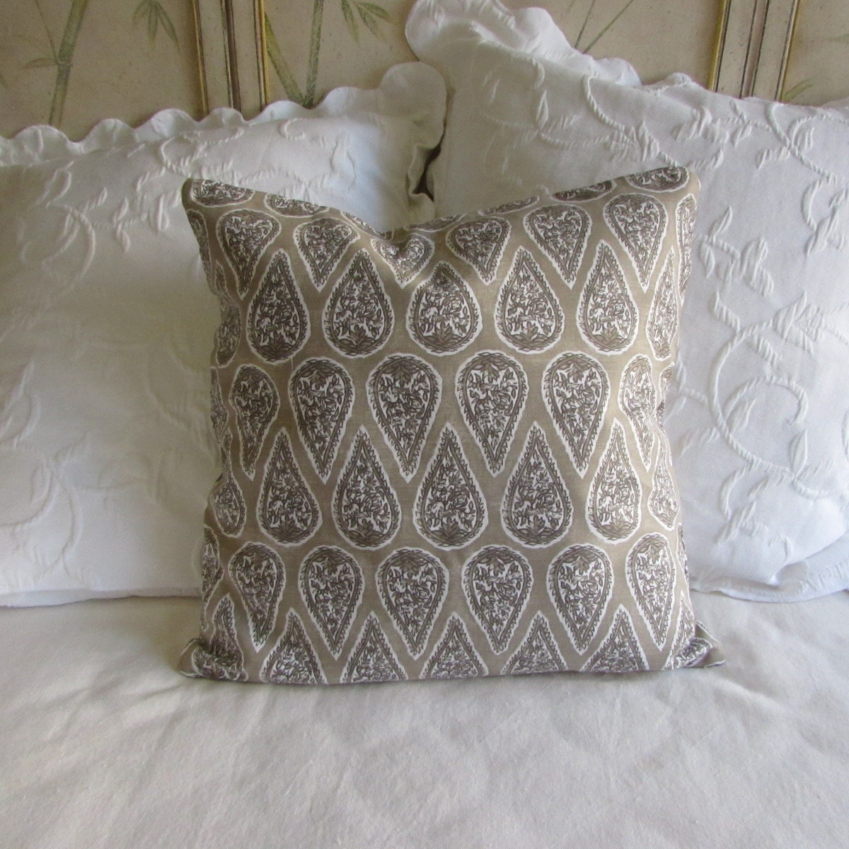 22x22 Decorative Pillows : Anya Bisque decorative Pillow Cover 18x18 20x20 22x22 24x24