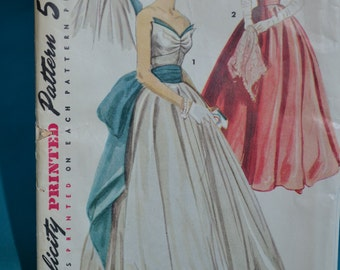 Vintage 1953 Simplicity Pattern #4440, Evening Gown