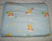 ON SALE Reversible Flannel Blanket -Flannel on both sides - Approx 32 in X 41in Ready To Ship