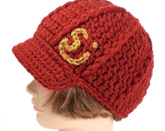 String Cheese Incident Hat with Visor, Red and Yellow, ON SALE - Medium