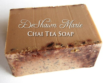 SALE SOAP- Chai Tea Soap - Vegan Soap - Soap Gift - Christmas Soap, Fall Soap, Chai latte soap, Christmas Gift, Father's Day gift