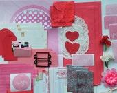Snail Mail, Snail Mail Kit, Junk Journal Kit, Smash Journal Kit, Love Snail Mail Kit, Romance Snail Mail Kit, Valentine Journal Kit, 138+ PC