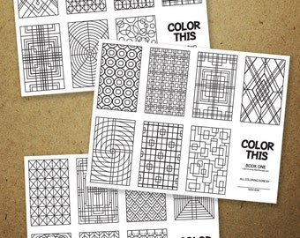 COLOR THIS 1 FIVE Make Your Own 8 Page Mini Coloring Book Set