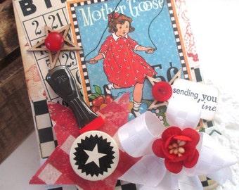 fancy greeting card-LITTLE GIRL skipping rope-sending you SUNSHINE card