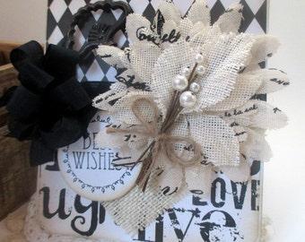 elegant greeting card-sophisticated BEST WISHES wedding card