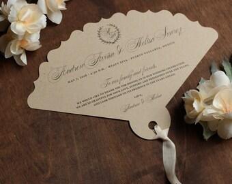 Laser Cut Fan Wedding Programs - Custom Wedding Programs, Fan Program, Fan Thank you