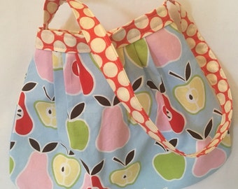 Her First Mod Purse little girls handbag in Apples and Pears READY TO SHIP
