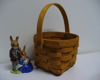 Authentic Longaberger Basket with Swing Handle - 1995