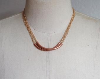 Copper Tube Necklace