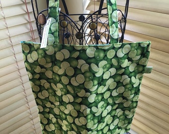 The Marley Market Tote - Limes, Green Limes-Tote Bag